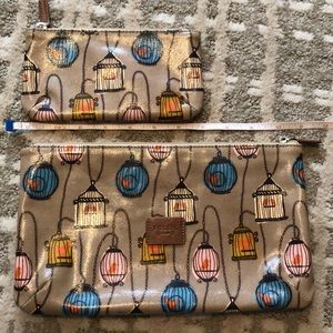 Fossil Caged Bird Cosmetic Bags Cases